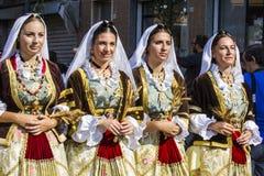 塞拉尔朱斯,意大利- 2016年9月11日:前婚姻Selargino -撒丁岛- 库存照片