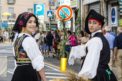 塞拉尔朱斯,意大利- 2015年9月13日:前婚姻Selargino -撒丁岛 免版税库存图片