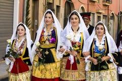 塞拉尔朱斯,意大利- 2016年9月11日:前婚姻Selargino -撒丁岛 免版税库存图片
