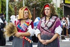 塞拉尔朱斯,意大利- 2015年9月13日:古老婚姻Selargino -撒丁岛 免版税图库摄影
