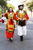 塞拉尔朱斯,意大利- 2015年9月13日:古老婚姻Selargino -撒丁岛 免版税库存图片