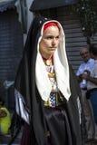 塞拉尔朱斯,意大利- 2016年9月11日:古老婚姻Selargino -撒丁岛 图库摄影
