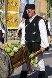 塞拉尔朱斯,意大利- 2016年9月11日:婚姻Selargino -撒丁岛的古老免版税库存图片