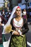 塞拉尔朱斯,意大利- 2016年9月11日:老婚姻的Selargino -撒丁岛 免版税库存照片