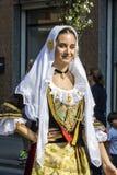 塞拉尔朱斯,意大利- 2016年9月11日:老婚姻的Selargino -撒丁岛 免版税图库摄影