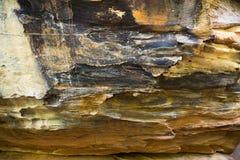 塞拉da Capivara,皮奥伊,巴西岩石  库存图片