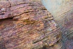 塞拉da Capivara,皮奥伊,巴西岩石  免版税图库摄影