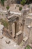 贝塞斯达废墟古老水池在耶路撒冷耶路撒冷旧城  免版税图库摄影