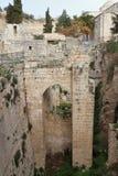 贝塞斯达-耶路撒冷-以色列的水池 库存照片