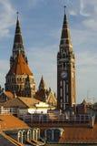 塞格德大教堂,匈牙利 免版税图库摄影