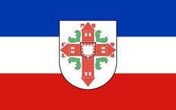 塞格贝格县旗子在石勒苏益格-荷尔斯泰因,德国 库存例证
