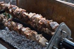 塞浦路斯传统kebab, souvla 免版税库存照片