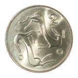塞浦路斯分硬币 免版税库存图片