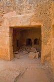 塞浦路斯国王paphos坟茔 库存图片