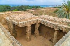塞浦路斯国王paphos坟茔 免版税库存照片