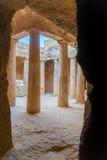 塞浦路斯国王paphos坟茔 库存照片