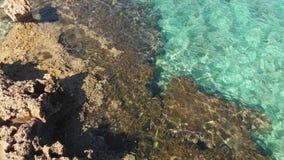 塞浦路斯地中海海岸,片段 股票视频