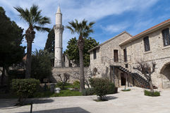 塞浦路斯堡垒拉纳卡清真寺 免版税库存照片