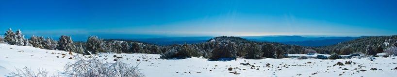 塞浦路斯山全景 库存图片
