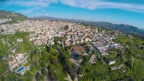 塞浦路斯房地产顶视图待售或租,美丽的山区度假村镇 影视素材