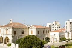 塞浦路斯拉纳卡屋顶视图 库存图片
