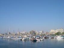 塞浦路斯拉纳卡海滨广场 库存照片
