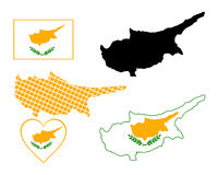 塞浦路斯映射 图库摄影