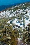 塞浦路斯横向山通配natur的trodos 库存图片