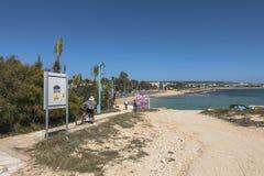 塞浦路斯海岛海岸  库存照片