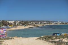 塞浦路斯海岛海岸  库存图片
