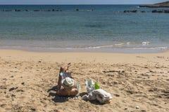 塞浦路斯海岛海岸  图库摄影