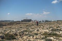 塞浦路斯海岛海岸  免版税库存图片