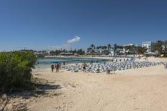 塞浦路斯海岛海岸  免版税库存照片