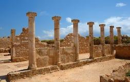 塞浦路斯海岛paphos柱子 库存图片