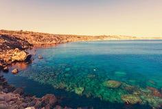 塞浦路斯海岸 免版税库存照片