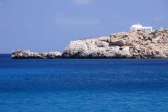 塞浦路斯海景 库存照片