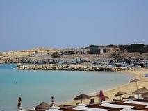 塞浦路斯海滩假日 免版税库存照片