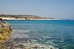 塞浦路斯海滩 免版税库存图片