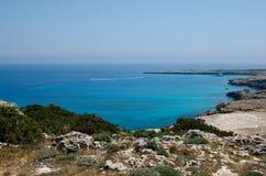 塞浦路斯海滩 免版税库存照片