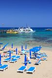 塞浦路斯海滩 库存图片