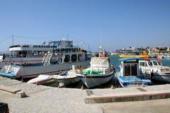 塞浦路斯港口拉纳卡 图库摄影