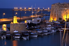 塞浦路斯港口kyrenia土耳其 图库摄影