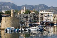 塞浦路斯港口kyrenia土耳其 免版税库存照片