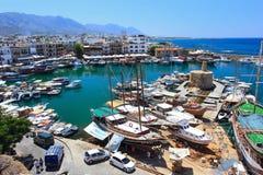 塞浦路斯港口kyrenia土耳其 库存照片