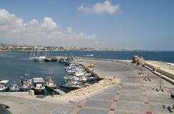 塞浦路斯港口pafos 库存图片