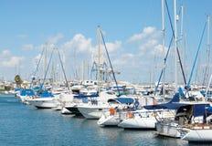 塞浦路斯游艇 库存照片