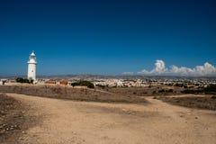 塞浦路斯灯塔在夏天 免版税库存图片
