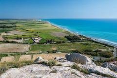 塞浦路斯的南海岸在Kourion附近的 图库摄影