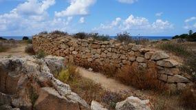 塞浦路斯的废墟 库存图片