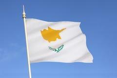塞浦路斯的旗子 库存照片